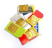 SIM telephone card